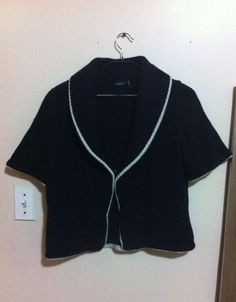 MAGASCHONI 100% Cashmere Shawl Collar Short Sleeve Sweater