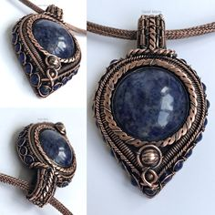 Beautiful wire wrap sodalite pendant
