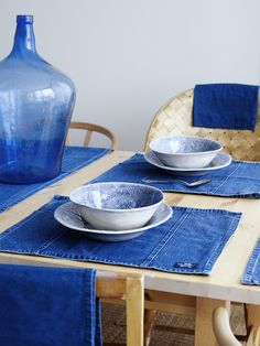 Denim placemats