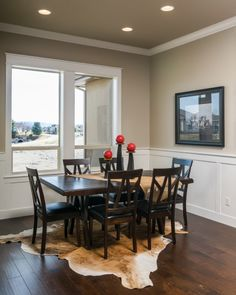 Nice darker toned engineered hardwood flooring in New Construction -  Capell Flooring and Interiors in Meridian, ID #hardwood Flooring store serving Boise, Meridian, Nampa and Caldwell ID www.capellinteriors.com