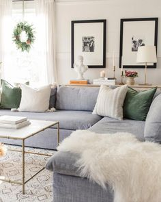 Comfy Sofas,  Beautiful Beds & Laid-Back Furniture for the Home #Cheapbedroommakeover Living Room Sectional, Living Room Grey, Home Living Room, Apartment Living, Living Room Furniture, Living Room Decor, Fireplace Furniture, Fireplace Mantel, Living Room Color Schemes