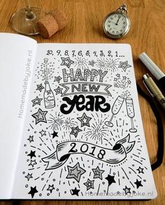 Handlettering – Frohes Neues Jahr – Selbstgemacht durch Witz Handlettering – Happy New Year – Homemade by Joke New Year Inspirational Quotes, New Year Wishes Quotes, Happy New Year Quotes, Happy New Year Cards, Happy New Year Wishes, Quotes About New Year, Happy New Year 2020, Happy Year, New Year Doodle