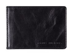 Perez Money Clip Wallet in Black by Status Anxiety