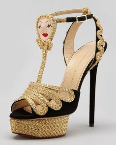 """368593c9b03 """"Rapunzel"""" Braided Platform Sandals - Fairy Tale Heels from Charlotte  Olympia s Fall 2013 Collection"""