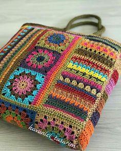 Love Crochet, Crochet Motif, Crochet Patterns, Bordado Floral, Bargello Quilts, Crochet Blocks, Yarn Bombing, Crochet Handbags, Crochet Accessories