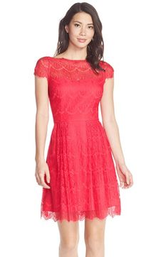 Cynthia Steffe 'Hannah' Lace Fit & Flare Dress available at #Nordstrom