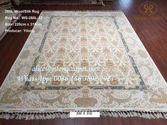 Handmade silk rug is from Yilong carpet factory.