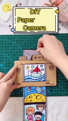 Teacher Discover DIY Paper Camera Toy For Kids Easy handmade toy tutorial. Diy Crafts Hacks, Diy Crafts For Gifts, Diy Crafts Videos, Fun Crafts, Diy Projects, Ag Doll Crafts, Circus Crafts, Popsicle Crafts, Ocean Crafts