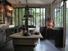 Salon bert et chlo on pinterest loft laminate flooring - Cuisine style industriel loft ...