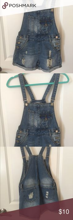 Never Worn Denim Overalls Size XS Never worn (a tad too small for me) denim overalls fro Shein.com. Perfect condition. Jeans Overalls