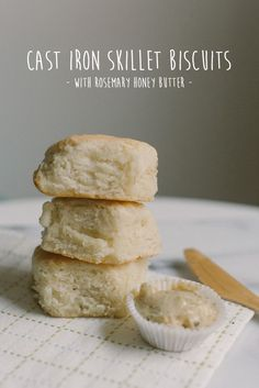 Yes. these lovely morsels are the product of a Lodge Cast Iron Skillet. And the work of Becca Bakes! Here's her recipe for Lodge Cast Iron Skillet Biscuits + Rosemary Honey Butter.