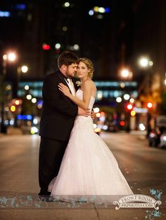Julie & Nick on WI Ave. for some night time beauty. Photo by: FRP