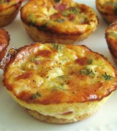 Easy Mini Quiche 12 slices bread 1 onion (grated) 1/2 cup swiss cheese (shredded) 1 cup milk 4 eggs 1 tsp dry mustard 1 pinch black pepper Preheat 375. Lightly grease 12 muffin tins. Cut bread into circles. Place circles in bottom of muffin tins. Distribute the onion and shredded cheese evenly between the muffin tins. In a medium bowl, combine milk, eggs, mustard and pepper. Divide between the muffin tins. Bake in preheated oven for 20 min, or until toothpick comes out clean.
