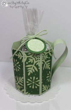 Letterpress Winter - Stampin' Up! - Stamp With Amy K Treat holder/paper mugs!