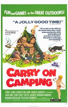 Carry On Camping (1969) GB Sidney James, Bernard Bresslaw, Barbara Windsor, Kenneth Williams, Hattie Gacques, Joan Sims, Charles Hawtrey, Terry Scott, Peter Butterworth. 3/08/03