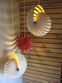 Favourite Things Friday – Paying it Forward: Hanging Nautilus Lampshades by Designer, Rebecca Asquith