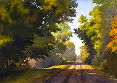 Sunshine Road by Susan Lynn Watercolor ~ 10 x 14