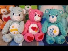 Amigurumi crochet Care Bear tutorial part This is the final tutorial for the Care Bear Pattern. In this tutorial you will learn how to crochet the ears and tail. You will also learn how to create the care bear details in felt. to crochet the care bear Crochet Teddy Bear Pattern, Crochet Patterns Amigurumi, Amigurumi Doll, Crochet Dolls, Crochet Yarn, Amigurumi Tutorial, Knitting Patterns, Crochet Videos, Crochet Animals