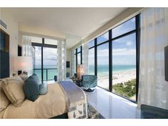 A bedroom like this, with unobstructed views of the Atlantic, are something out of a dream.