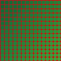 SquareCircle II (2015) - Dennis Smit. #opart #art #opticalart #opticalillusion #geometric #red #green
