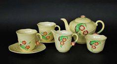 A Carlton Ware, Australian design, Primula pattern tea service.