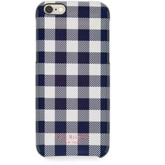 Isaac Mizrahi Navy and White Gingham iPhone 6 Case ($35) ❤ liked on Polyvore featuring accessories, tech accessories, phone cases, phone, electronics, tech, pattern iphone case, isaac mizrahi, apple iphone headphones and print iphone case