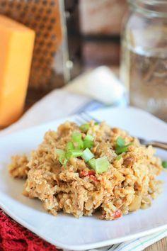 Chicken, Rice + Green Chile Casserole