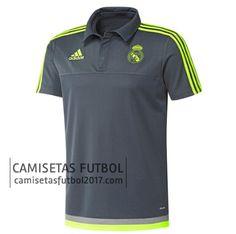 Polo de entrenamiento gris Real Madrid 2015 2016   camisetas de futbol baratas