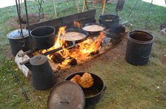 Who's hungry for some chuck wagon cooking? Cast iron is just what it says--indestructible. (My mom told me using cast iron helps to add iron to your diet to help build red blood cells.)