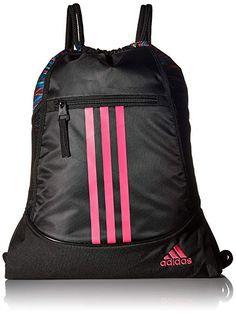 6e0dfef4ea7 adidas Alliance II Sack Pack, One Size, Black Twister Black Shock Pink