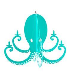 Look at this #zulilyfind! Turquoise Acrylic Octopus Chandelier #zulilyfinds