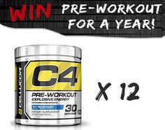 Three lucky winners will receive 12 months worth of C4 Pre-Workout - FREE!