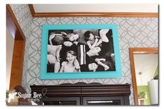 extra large family photo and DIY frame (Sugar Bee Crafts)