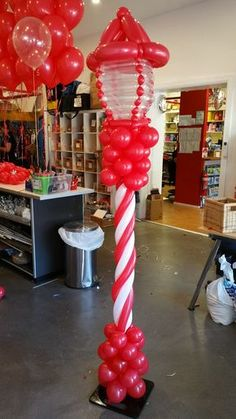 Christmas street lantern. Can include LED lights inside the glass for an interactive effect. Imagine these lining your driveway! www.balloons.net.au