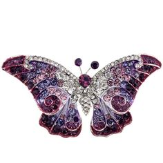 cute on a jean jacket............   way to wear the 2014 color of the year.....    radiant orchid