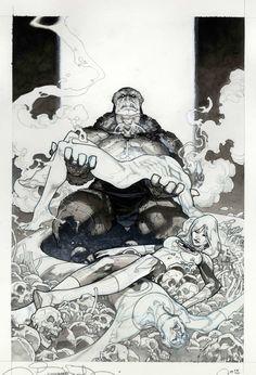 Secret Wars #9 - Fantastic Four by Simone Bianchi... - Art Vault