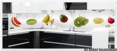 Şahane Mutfak Tezgah Arası Cam Panelleri