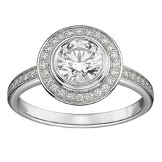 Cartier is one of the most luxurious jewelry brands in the world. We just had to make a list of 5 Amazing Engagement Rings by Cartier. Cartier Diamond Rings, Cartier Love Ring, Diamond Promise Rings, Ring Ring, Pave Ring, Solitaire Ring, Best Engagement Rings, Beautiful Engagement Rings, Diamond Engagement Rings