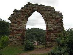 Gothic garden stone arch