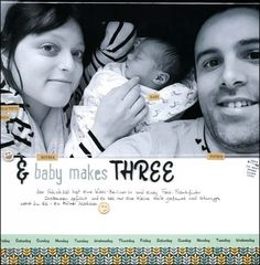 """#SCNSD16  GO LARGE """"& baby makes three"""" by Frauke at @studio_calico"""