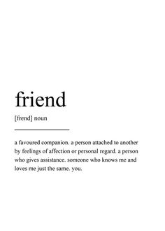 Gifts For Best Friends - Friend Definition Print Wall Art Prints Quote Prints Wall - Gift Ideas World Definition Of Friendship, True Friendship Quotes, Best Friend Definition, Frienship Quotes, Long Distance Friendship Quotes, Friendship Messages, Perfect Definition, Words Quotes, Inspiration Quotes