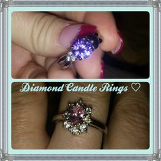 Diamond Candle Rings  @diamond CANDLES