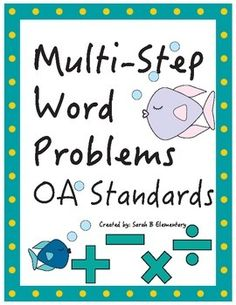 Multi-Step Word Problems OA Standards (Third Grade) FREE!