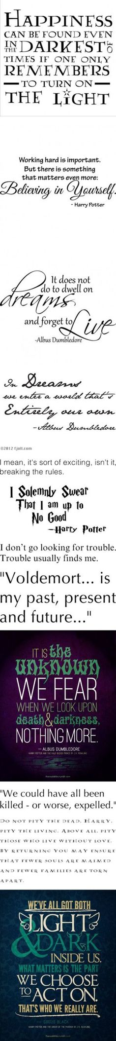 Harry Potter Quotes by starbucksforari on Polyvore featuring quotes, words, text, harry potter, backgrounds, fillers, phrase, saying, phrases and hp