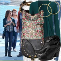 """sarah hyland on the set of 'modern family' as hayley dunphy"" by cla-90 on Polyvore"