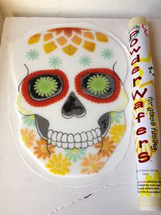 No Days Powder Wafer Sugar Skull with Glassline Paints