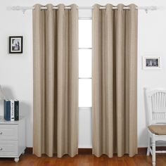 Deconovo Thermal Insulated Blackout Curtain Heavy Fabric Drapes Champagne