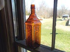 DRAKES 1860 PLANTATION BITTERS PAT.1862 AMBER 4 LOG CABIN NICE W/BOLD EMBOSSING in Collectibles, Bottles & Insulators, Bottles   eBay