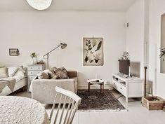 Jurnal de design interior - Amenajări interioare : Garsonieră de 38 m² în tonuri neutre
