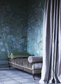The Paper Mulberry: Cherry blossom time, #home, #blue, #tufting